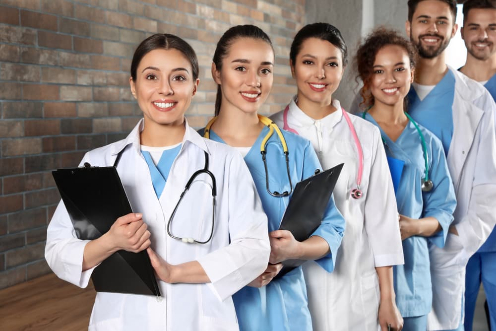 a group of healthcare workers