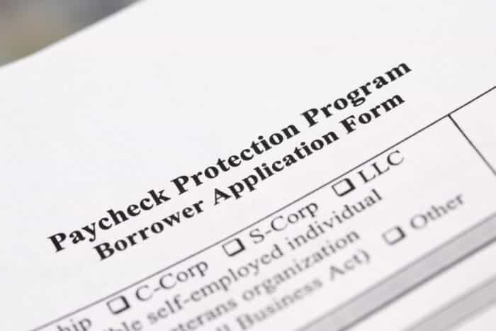 paycheck protection program loan form