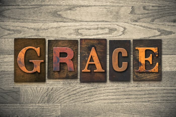 "Word art that spells ""Grace"""